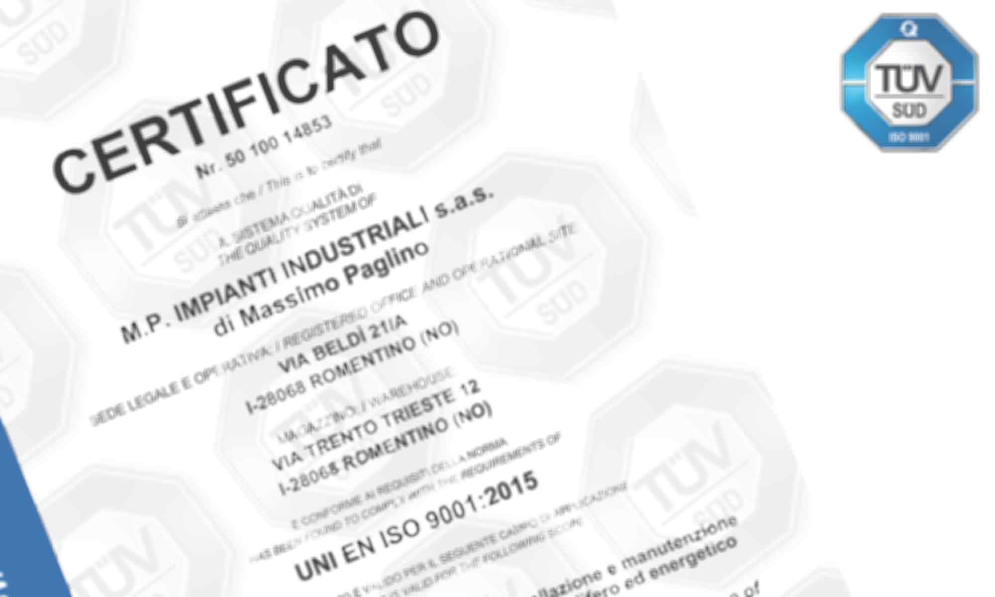 Sfondo pagina Certificazioni